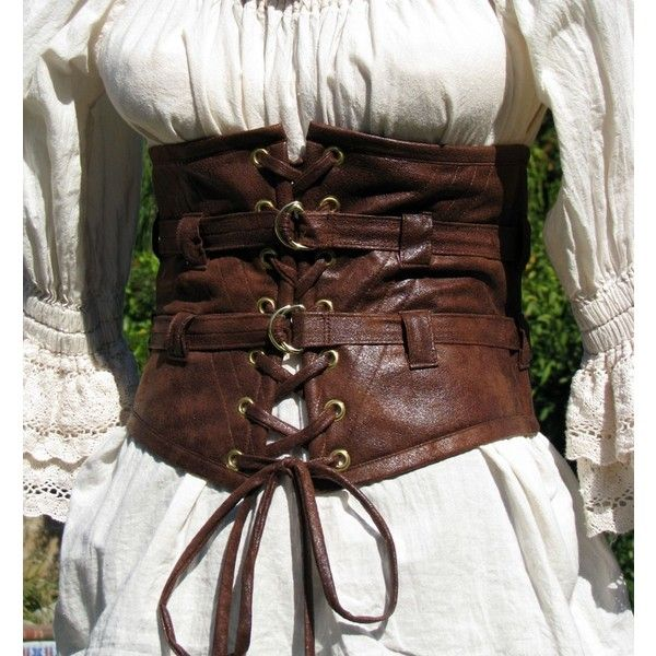 Lola Loves Leather STEAMPUNK, PIRATE, GOTHIC Extra Wide Waist Belt ( 79) ❤  liked on Polyvore 64aa10948f2
