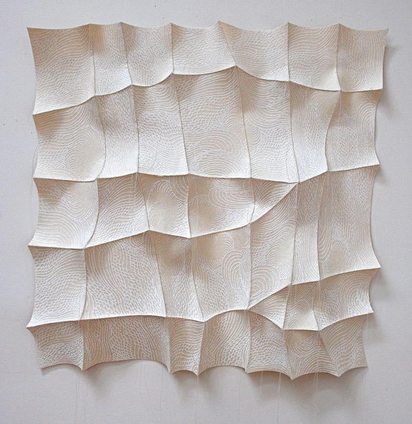 "'sulbing' 2012 26"" x 26"" x 2"" industrial felt, digitally engineered image, silkscreen printing, hand stitching"