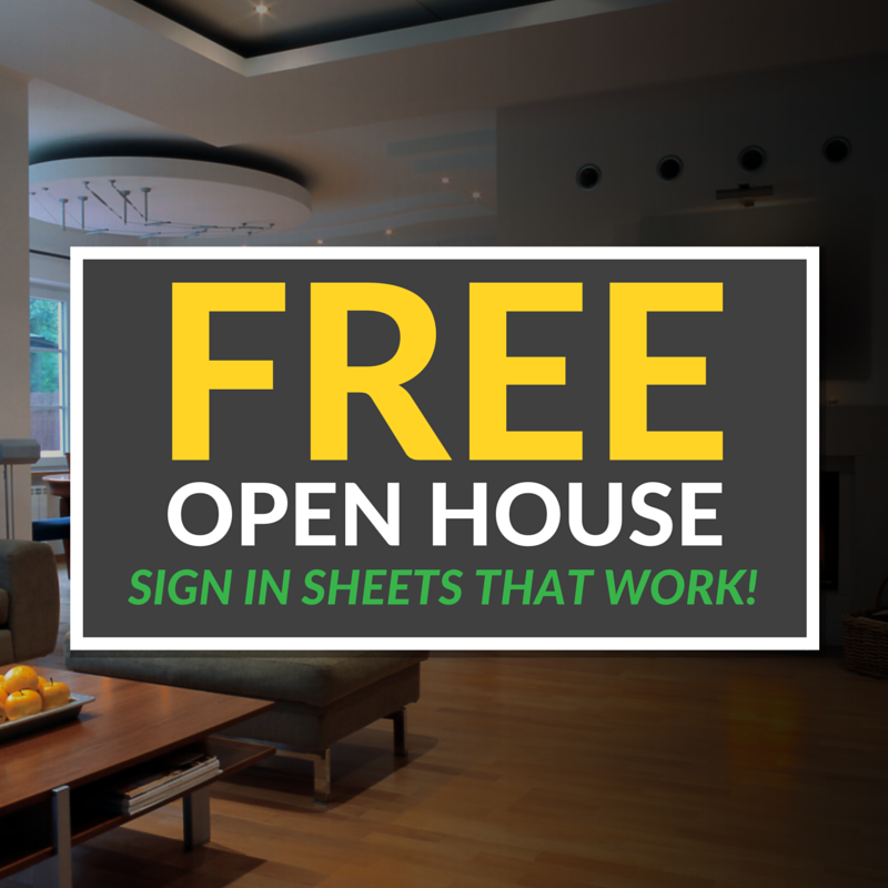 open house sign in sheet printable templates  free  u0026 ready