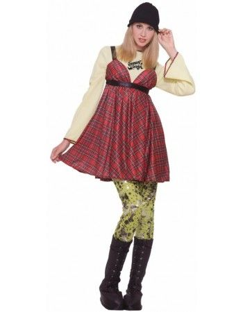 90 S Grunge Girl Costume Is Great For Your 90 S Costume Party Fancy Dress Up Rock Dresses 90s Fancy Dress