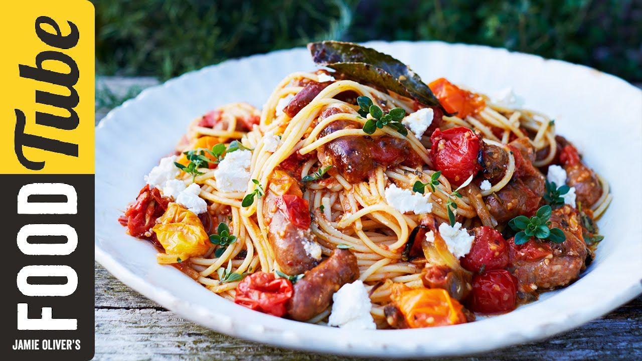 Summer Sausage Pasta | Jamie Magazine | Edition 61