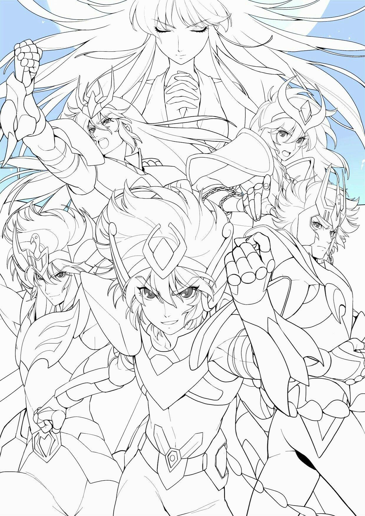 Cavaleiros Do Zodiaco Para Colorir Cavaleiros Do Zodiaco