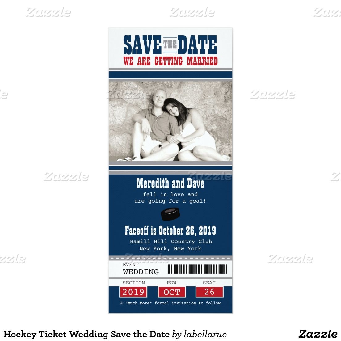 Hockey Ticket Wedding Save the Date | Pinterest | Ice hockey and Wedding