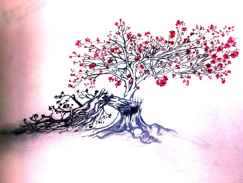 Blossom Tree Drawing Google Search Tree Art Tree Drawing Beautiful Tree