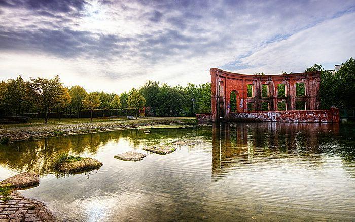 Stunning Hafeninsel City Park Saarbrucken Saarland Germany