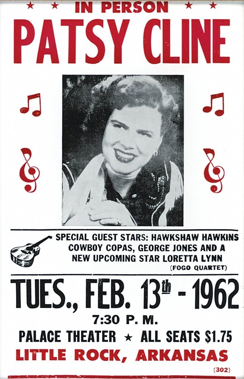 Amazon Com Patsy Cline In Person 14 X 22 Vintage Style Concert Poster Prints Posters Prints Music Concert Posters Concert Posters Country Music Concerts