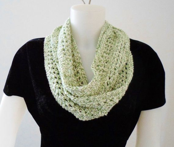 Crochet Pattern For A Summer Size Infinity Or Mobius Loop Scarf In