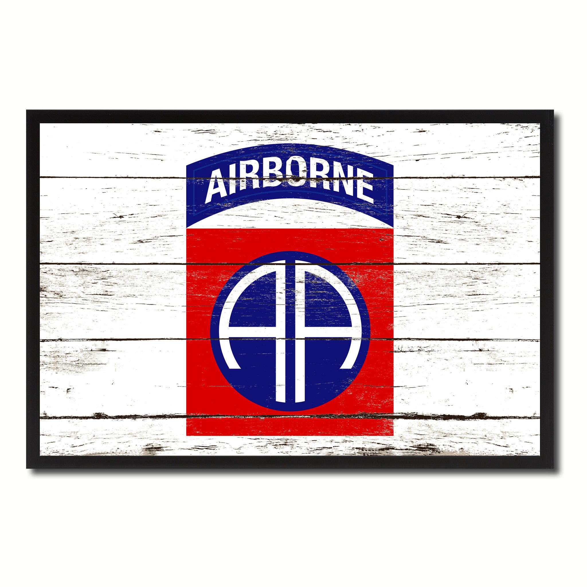 Us army 82nd airborne military flag vintage canvas print with us army 82nd airborne military flag canvas print picture frame home decor wall art gifts jeuxipadfo Images