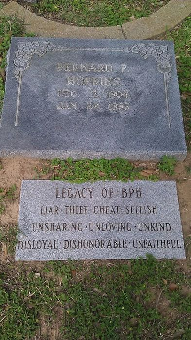 bb4023fc Now, THAT is getting the last word - someone really didn't like him; he  should have written his own epitaph!