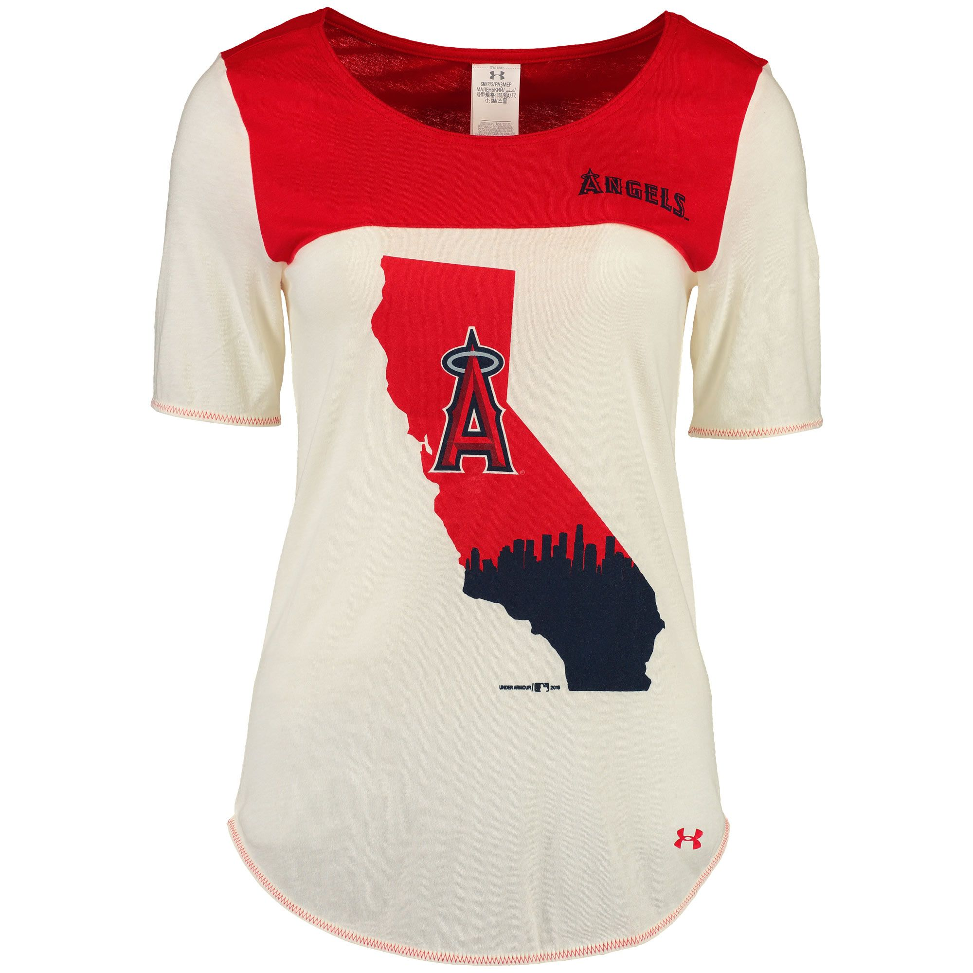MLB Los Angeles Angels of Anaheim Under Armour Women s Shirzee T-Shirt -  White  3c4d59710d