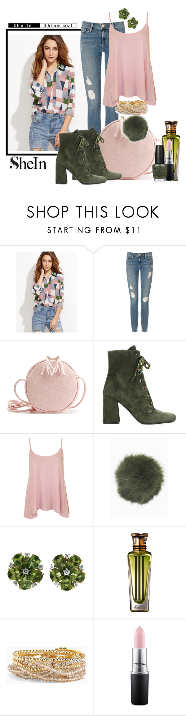 """""""Pink and Green"""" by jckallan ❤ liked on Polyvore featuring Frame Denim, Prada, WearAll, Bobbl, Valentin Magro, Cartier, Torrid and MAC Cosmetics"""