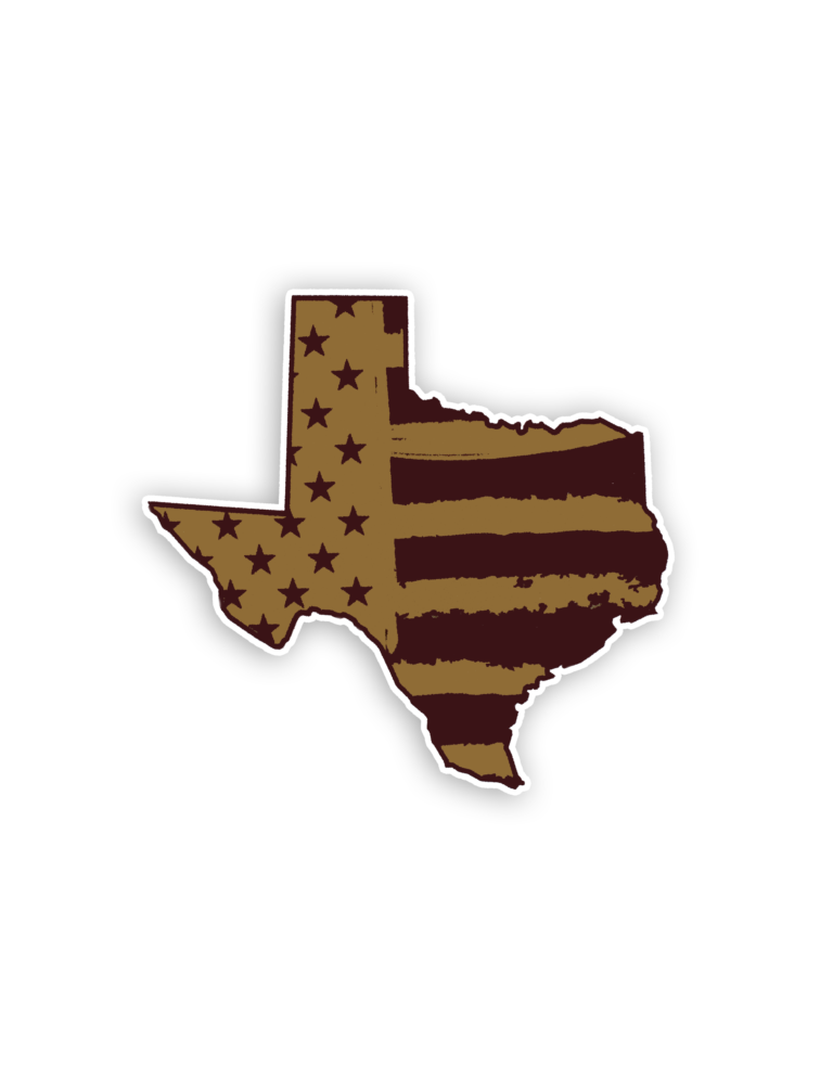 Tx Maroon Gold Flag In Texas Decal Barefoot Campus Outfitter In 2020 Texas Maroon Texas Lover
