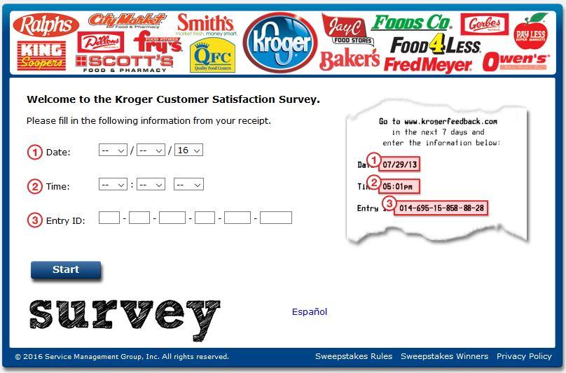 Www Krogerfeedback Com Kroger Customer Satisfaction Survey