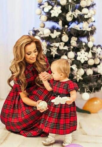 Mother & Kids Able Xmas Mother Daughter Girls Dress Christmas Festival Long Sleeve Swing Party Mini Dresses For New Year 2017 New Bebes Vestidos And To Have A Long Life.