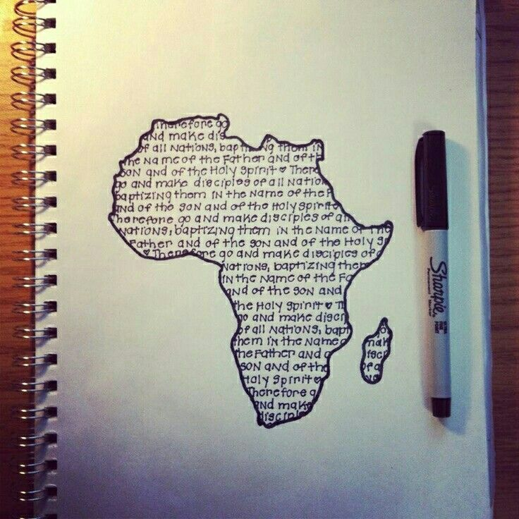 Pinner said AFRICA Created by my roommate