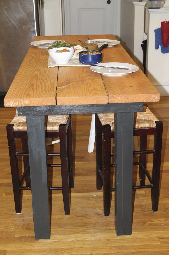 Long Bar Height Table   Kitchen bar table, Bar height ...
