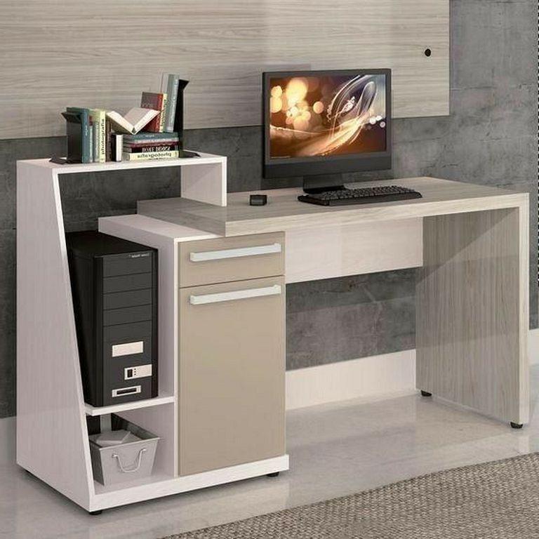 21 Top Modern Computer Desk Designs In White Color Page 23 Of 23 In 2020 Computer Desk Design Modern Computer Desk Office Table Design