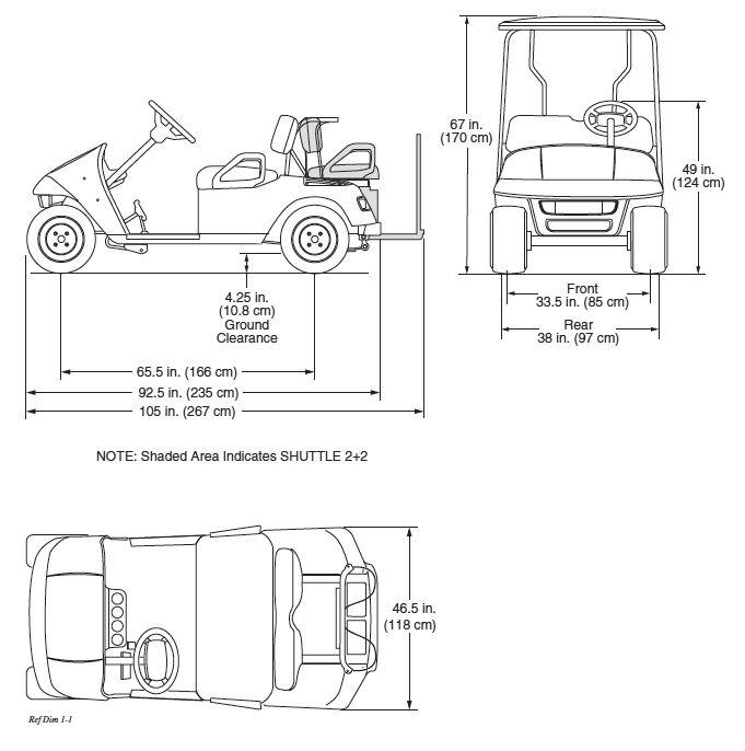 golf cart measurements pesquisa google details and standards pinterest golf carts. Black Bedroom Furniture Sets. Home Design Ideas