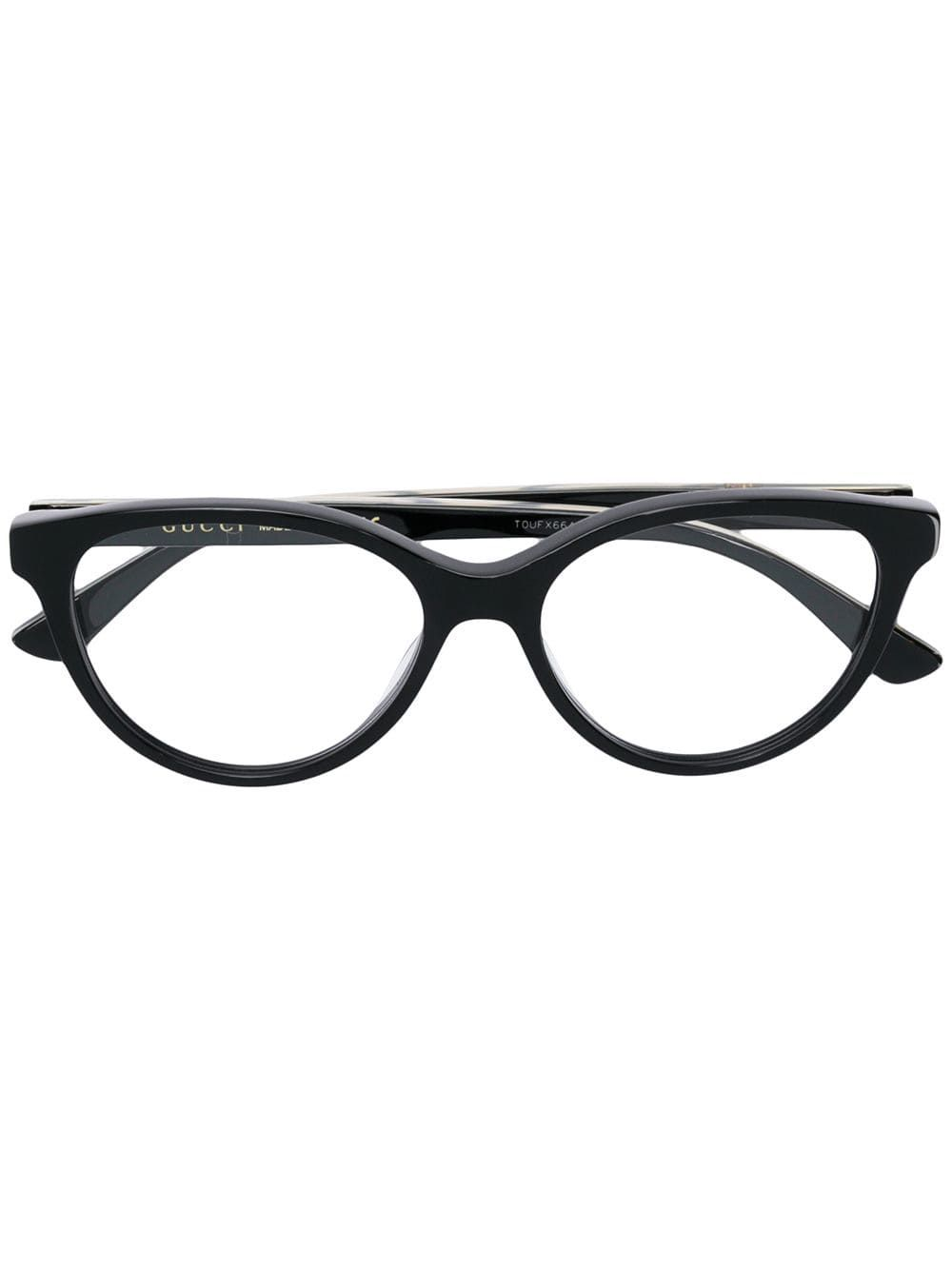 1e1ab6b157 GUCCI GUCCI EYEWEAR CAT EYE FRAME GLASSES BLACK gucci Shades