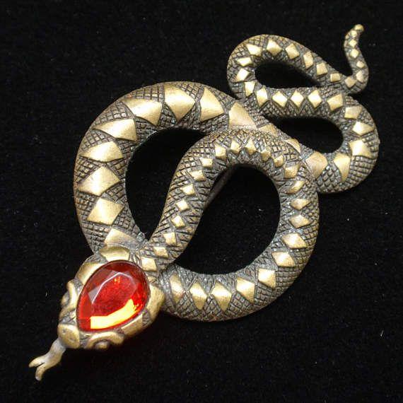 Snake Serpent Pin JJ Figural Brooch