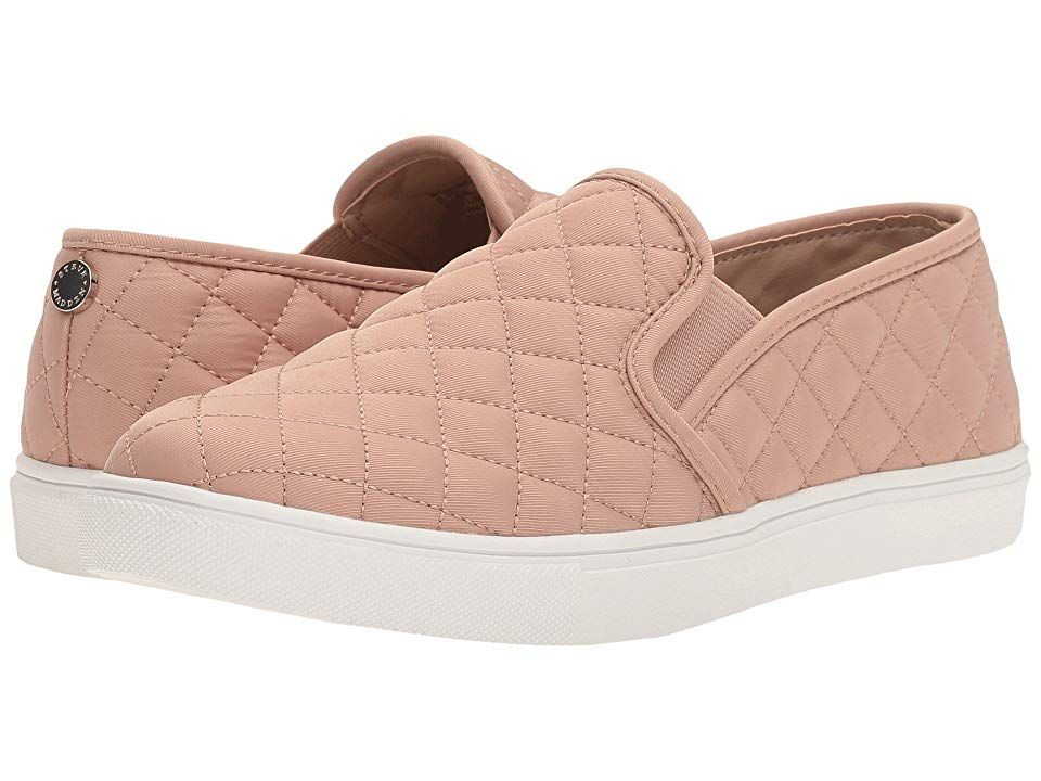 5836dad2ea7 Steve Madden Ecntrcqt Sneaker (Blush) Women s Slip on Shoes. Stand up and  stand out in these quilted kicks from Steve Madden. Man-made upper.