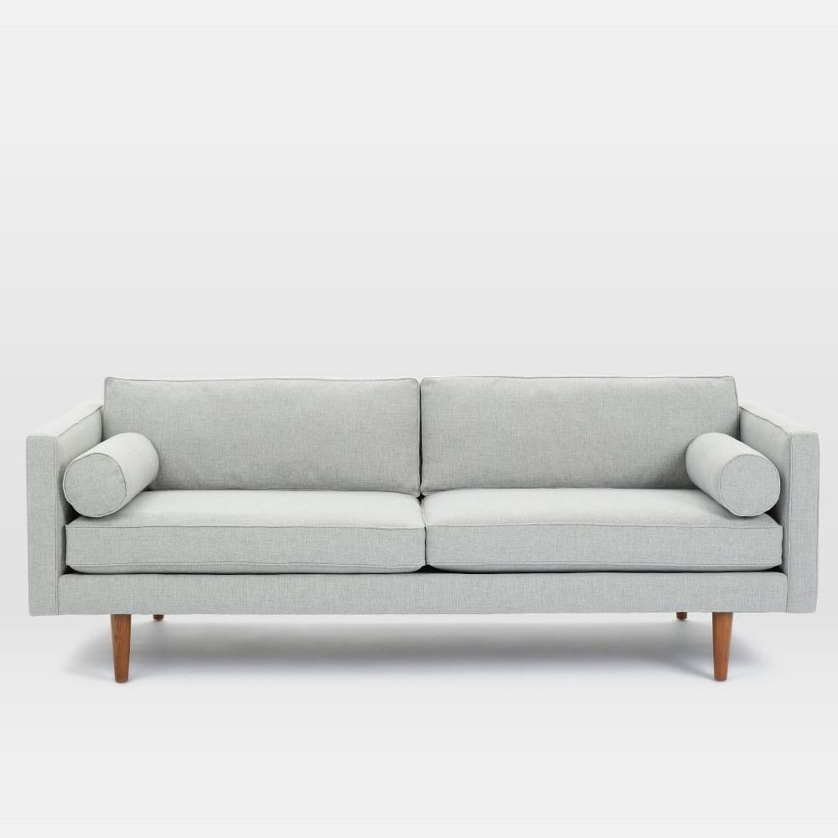 Monroe Mid Century Sofa Feather Grey 203 Cm Mid Century Sofa