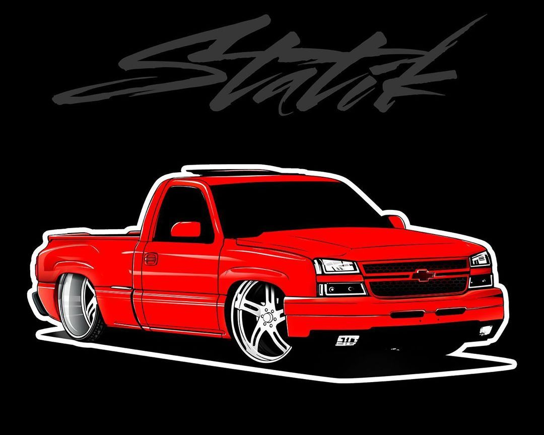 12 3k Likes 0 Comments Statikleo On Instagram New Drop 5 Inch Truck Decals Don T Forget Guys Eve Lowrider Trucks Custom Chevy Trucks Chevrolet Silverado