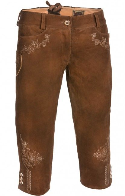 Traditional german leather short Pina brown