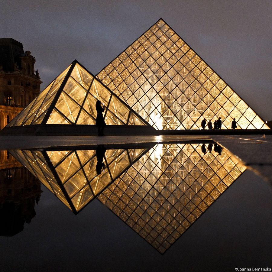 Diamonds are forever by joanna lemanska via 500px paris pyramide du lo - Pyramide du louvre construction ...