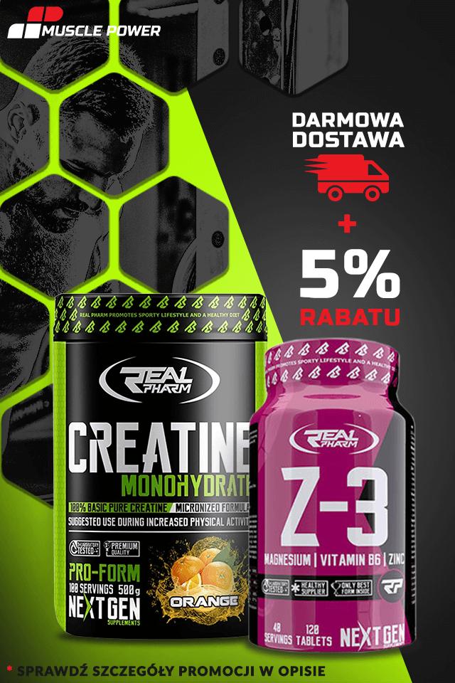 c837fd637c3b Wyjątkowy zestaw KREATYNA i Z3 Od Real Pharma‼‼ REAL PHARM Creatine  Monohydrate + Z3