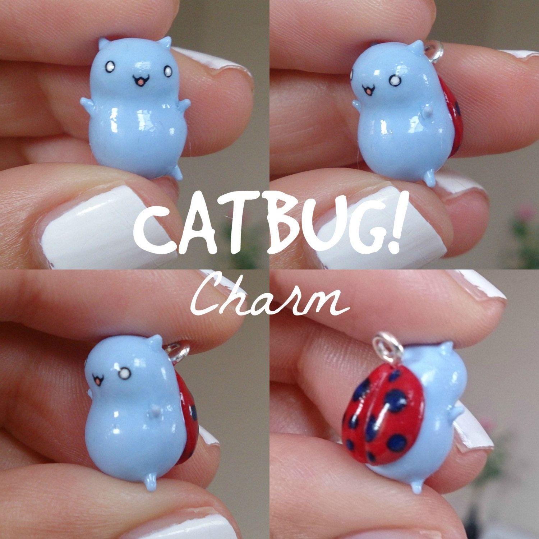 Polymer Clay Charm Bracelet: Kawaii Catbug Charm ... Polymer Clay Charms ... Phone
