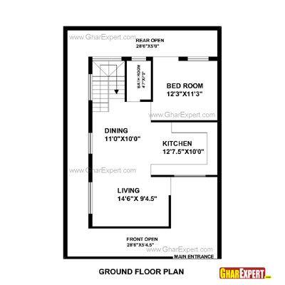 House plan for feet by plot size square yards gharexpert also rh pinterest