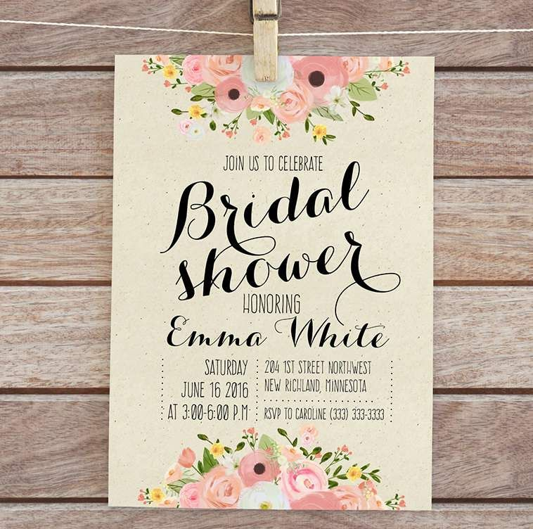 wedding shower invitation templates free download