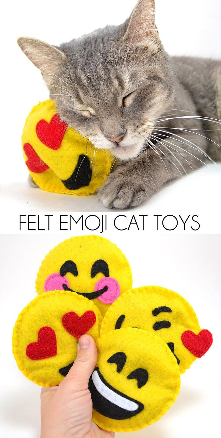 Felt Emoji Cat Toys