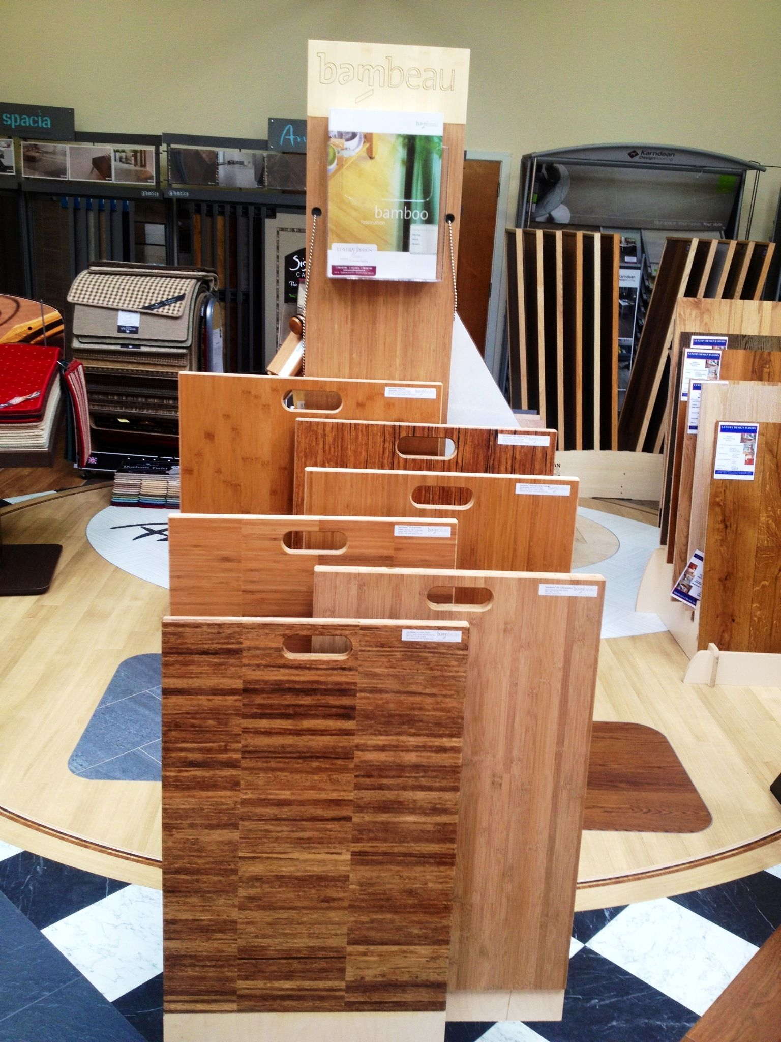 Bamboo stand just in visit our showroom to view large samples