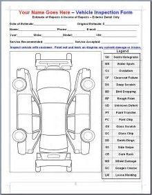 Resultado de imagem para Vehicle Damage Inspection Form Template