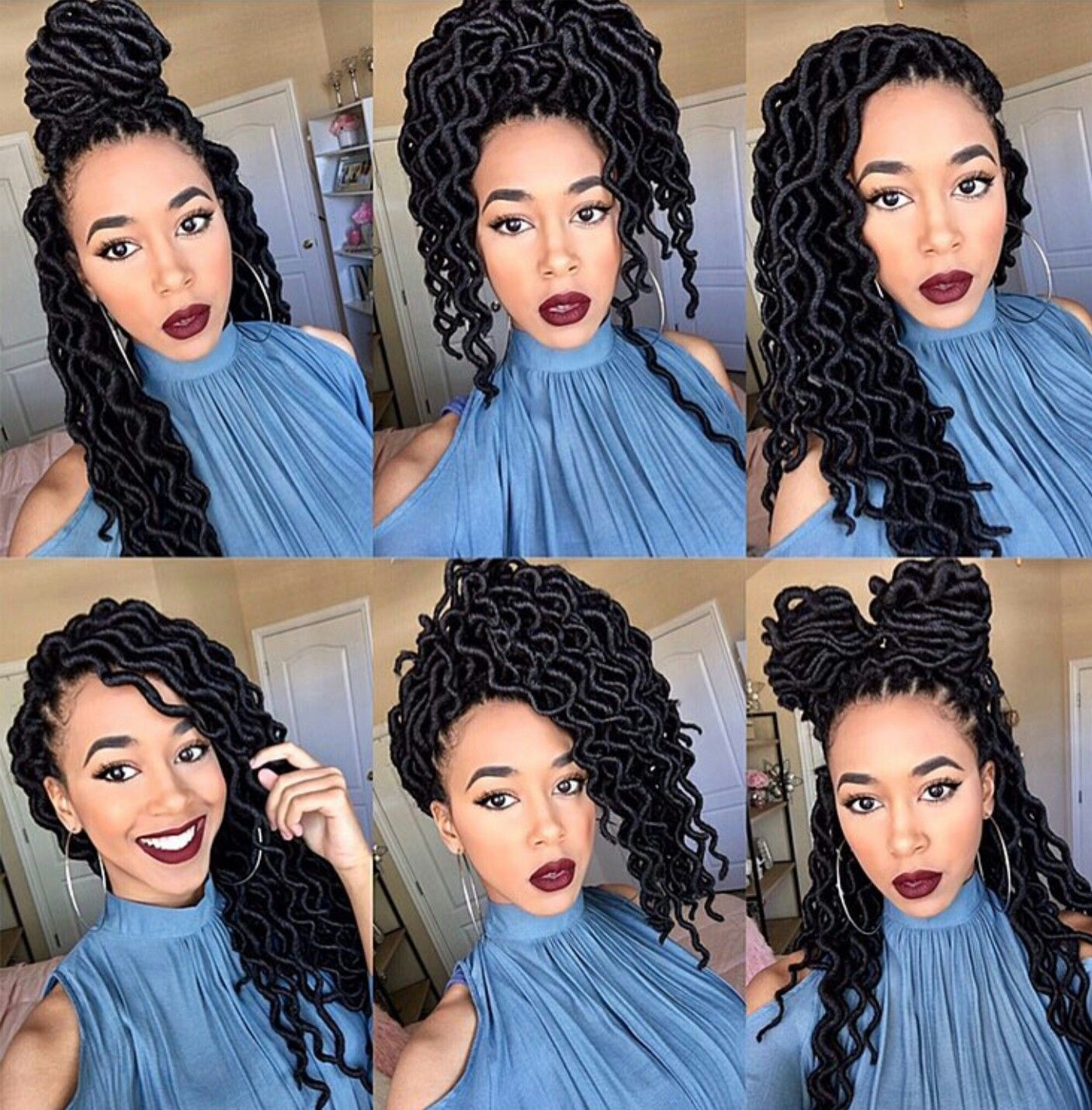 Faux Locs Hairstyles Enchanting Faux Locs Faux Curly Locs  Hair Pinterest  Faux Locs Locs And