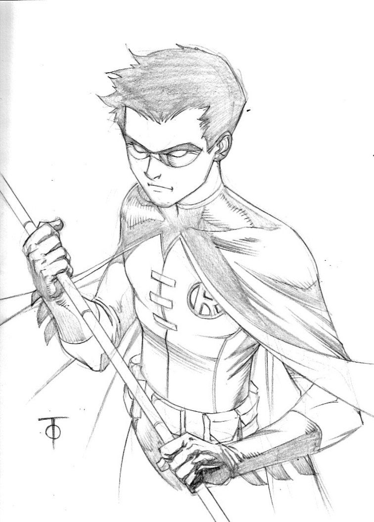 Robin Sketch By 0boywonder0 On Deviantart Batman Drawing Robin Drawing Superhero Sketches