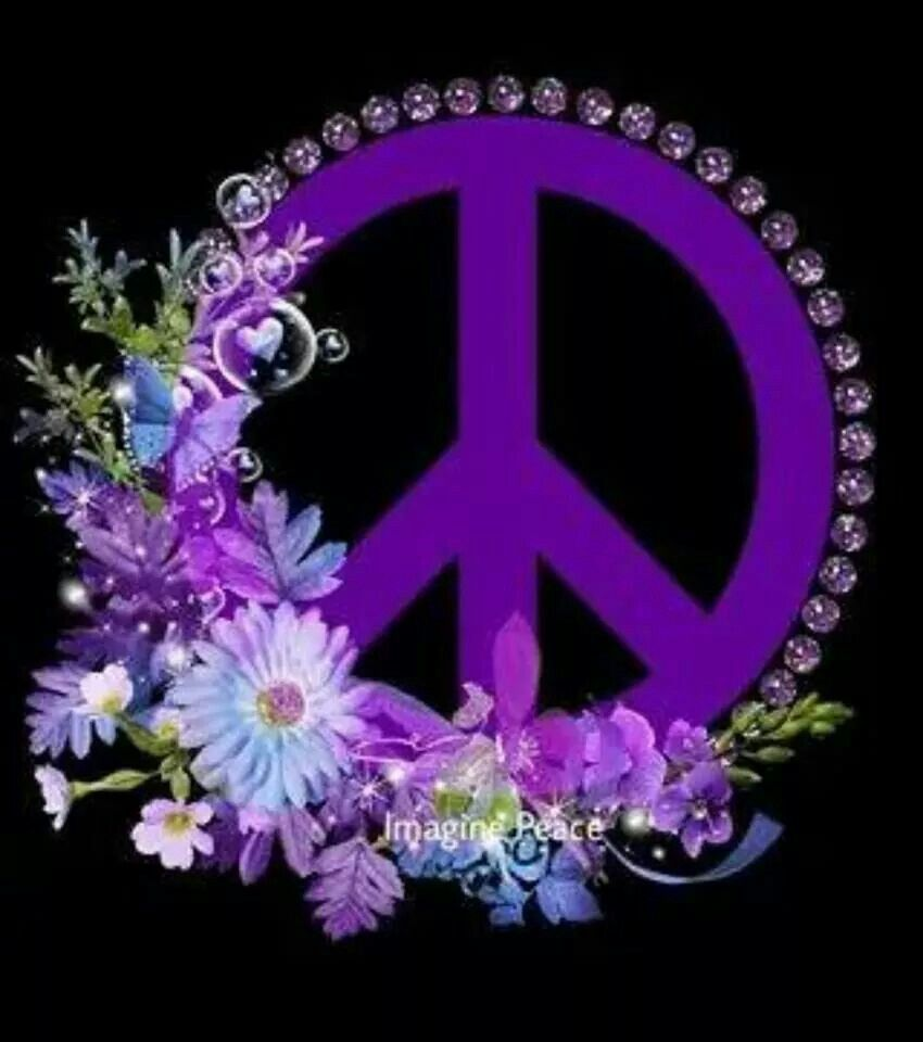 """CAR MAGNET /""""PEACE PAWS/""""  SHADES OF PURPLE"""