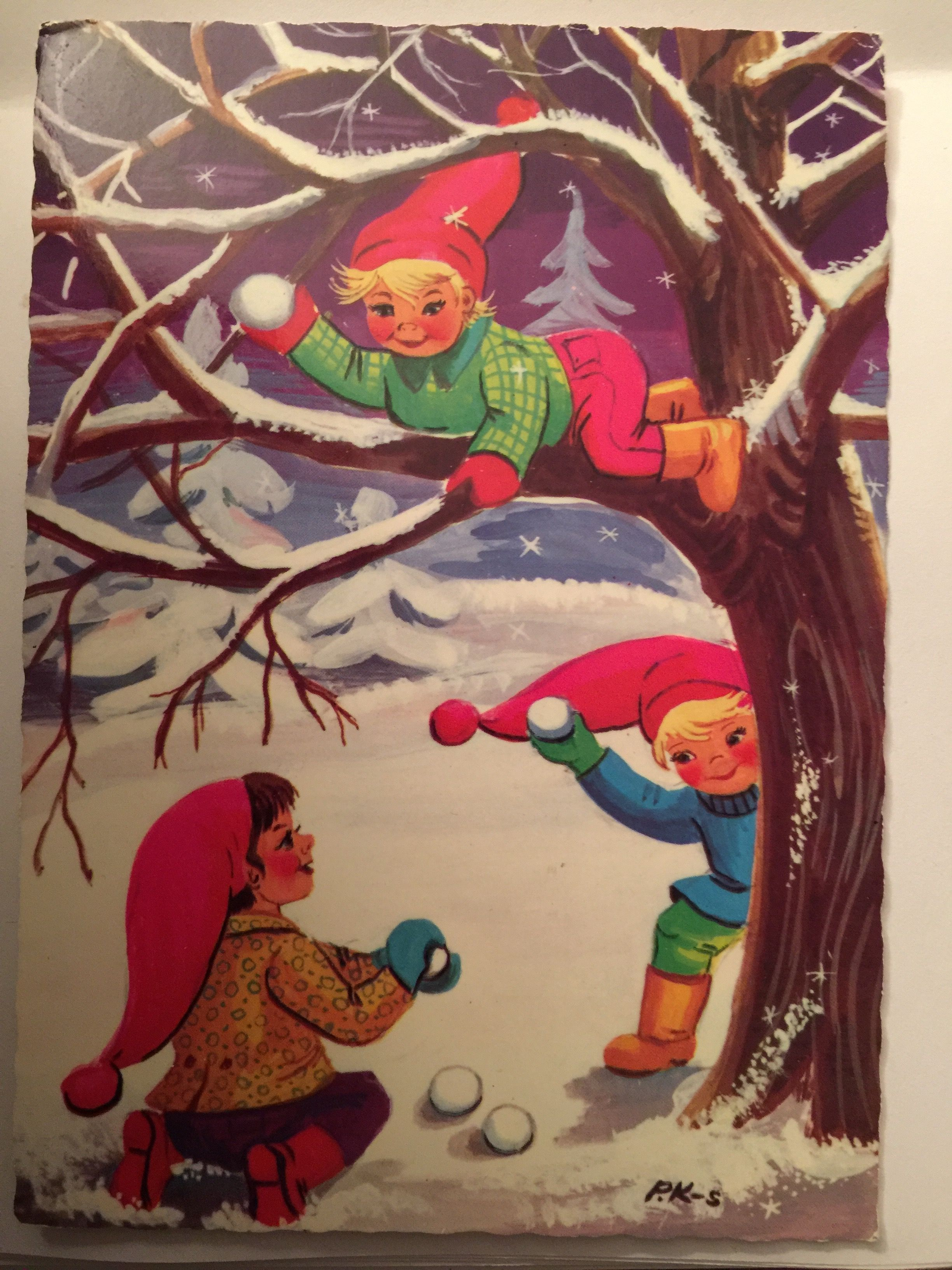 Pin by crydollf on Christmas cards Norway Vintage Old Norge Julekort