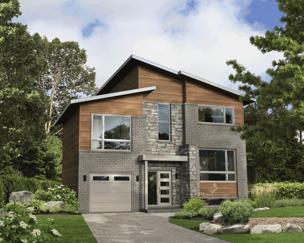 cette maison tage affiche une architecture typiquement urbaine avec ses toits pentus ses. Black Bedroom Furniture Sets. Home Design Ideas