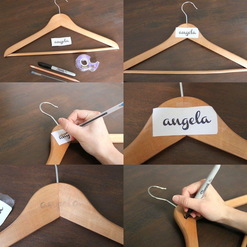 Diy Personalized Bridesmaid Dress Hangers Diy Wedding Hangers
