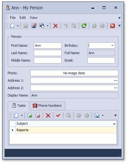 Devexpress Inline Editing