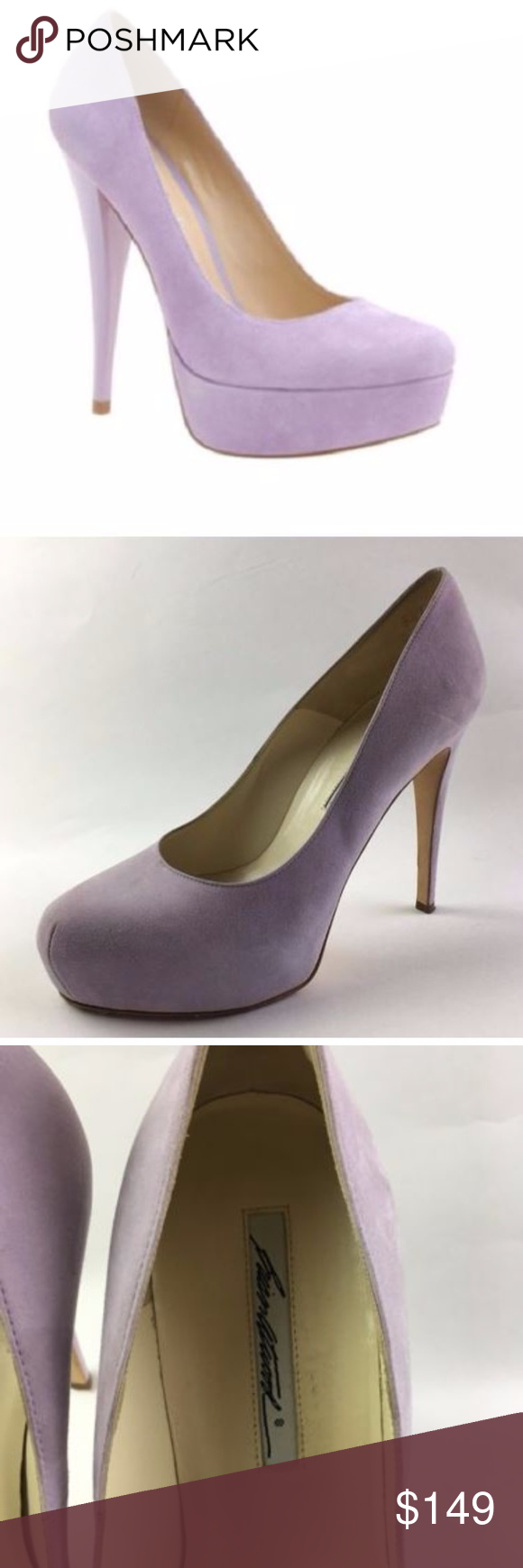 Brian Atwood Lavender Suede Obsession Heels 38.5 Size 38.5  Heel height is 4.75 inches Excellent condition Brian Atwood Shoes Heels