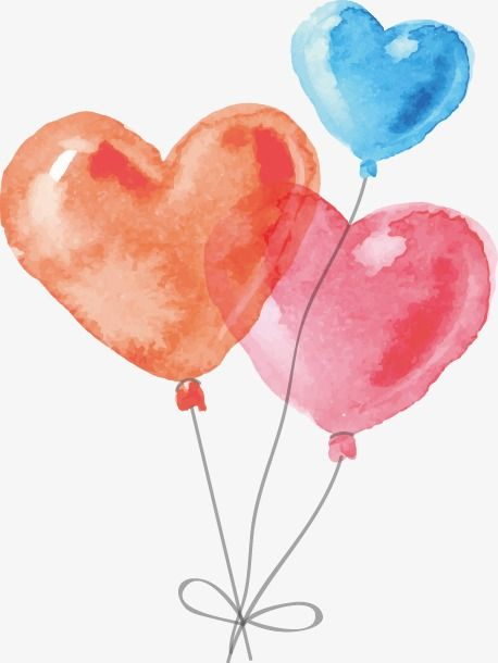Vector Hand Drawn Shaped Balloon Vector Hand Painted Color Png