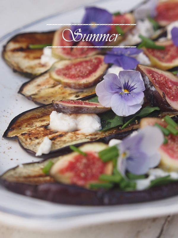 Avec Sofie Blog / #BBQ #summer Aubergines w/ figs and mozzarella