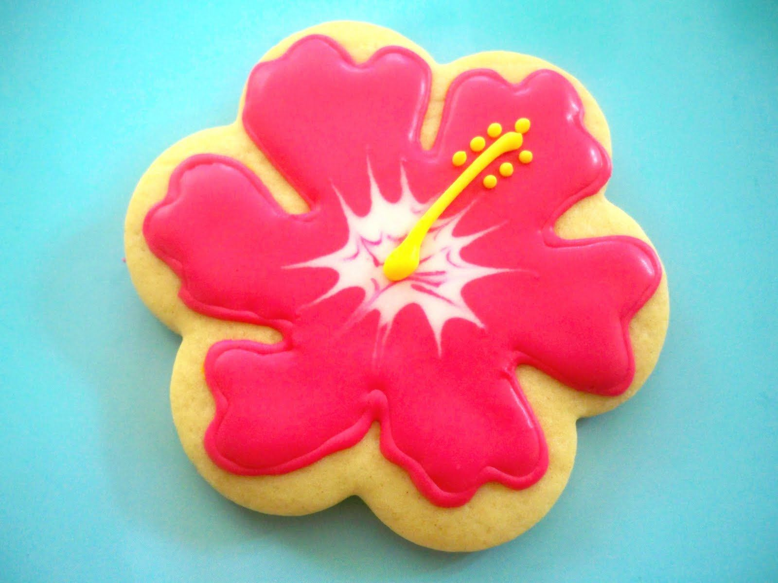 Hibiscus Flower Cookie Cookies Flowers Pinterest Hibiscus