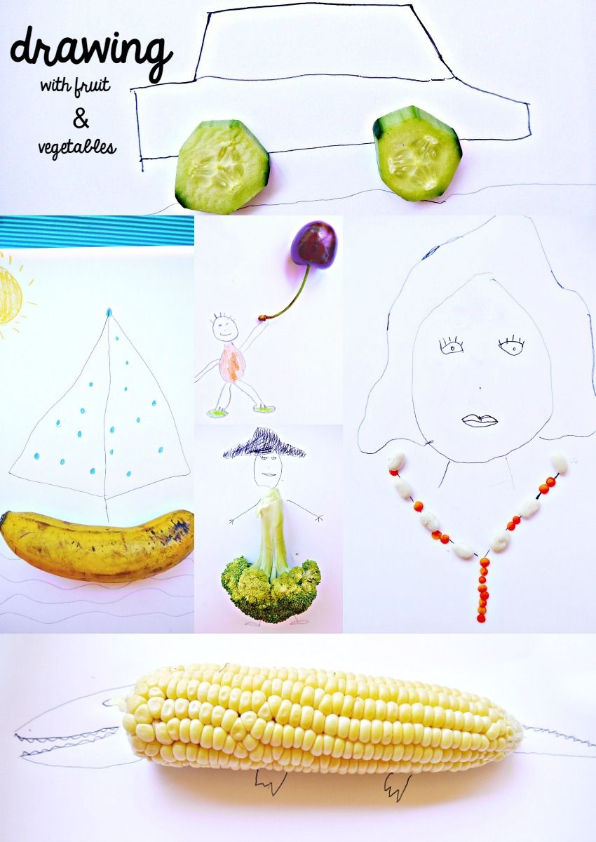 This Drawing Activity With Fruits And Vegetables Will Let Kids Improvise Create Fun Extra