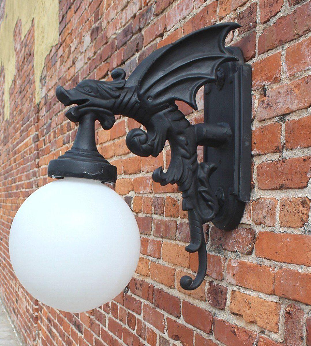 The Kings Bay Gargoyle Dragon Wing Outdoor Wall Light Fixture