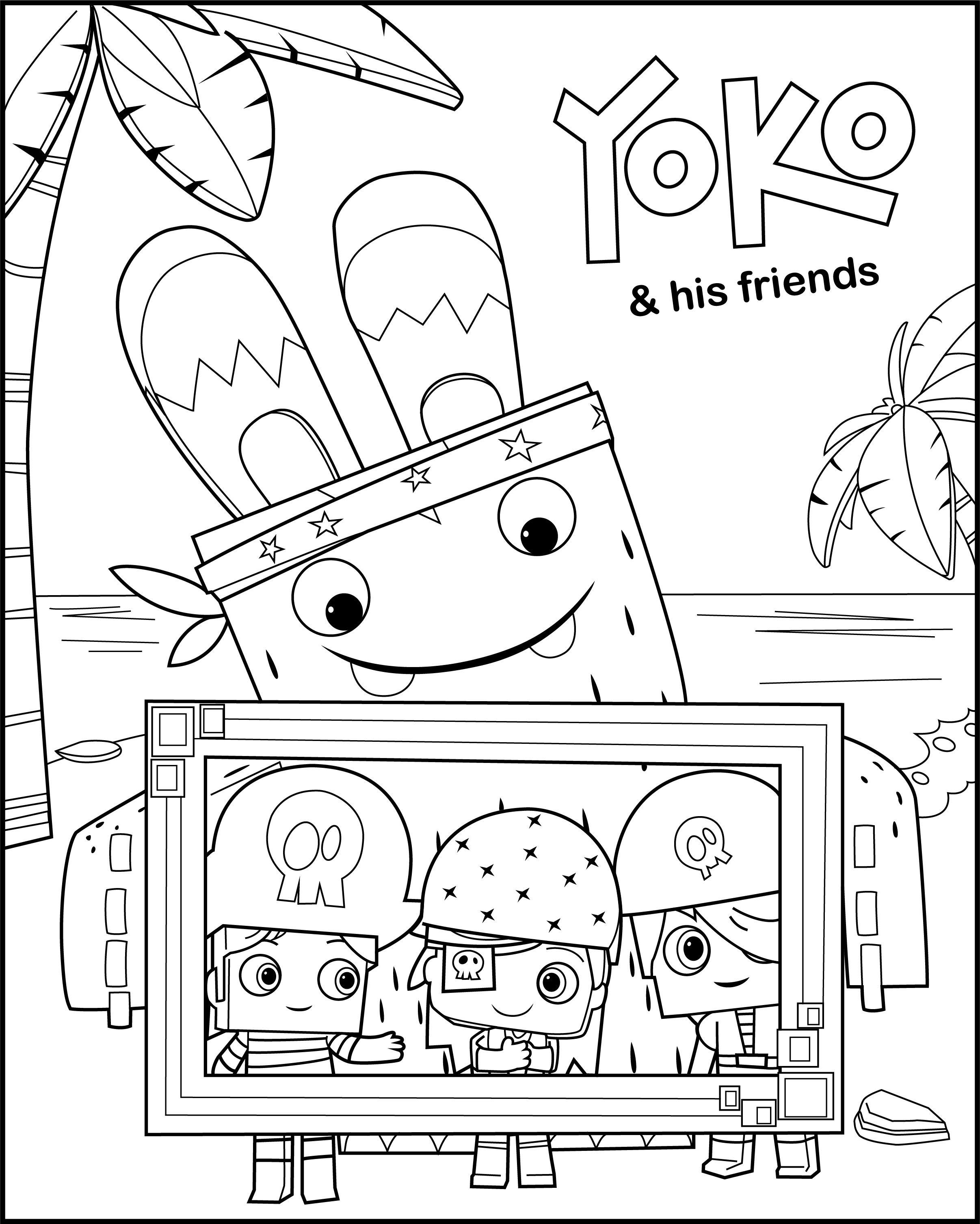 Yoko Netflix Yokoandfriends Coloringpages Preschool Coloring Pages Curious George Coloring Pages Coloring Pages Inspirational